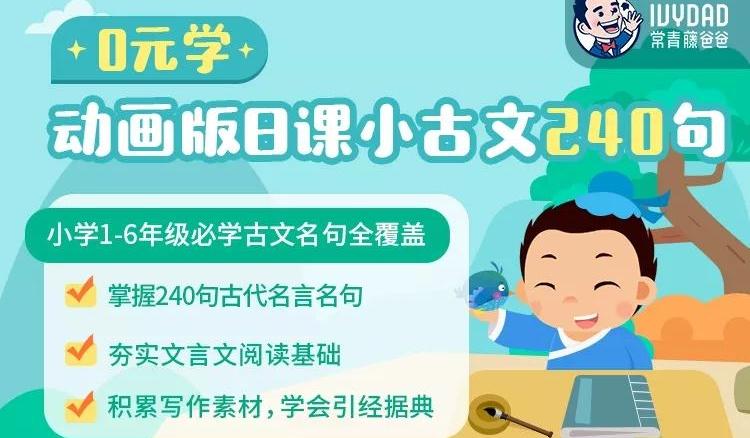 【打卡0元学】常青藤爸爸 小古文240节课
