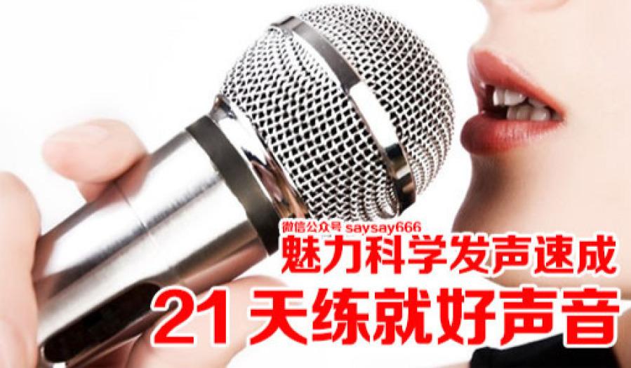 0基础 21天练就好声音 魅力科学发声训练速成  轻松成为主持人学唱歌麦霸!