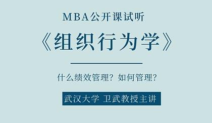 互动吧-武汉大学 卫武教授主讲《组织行为学》MBA课程试听